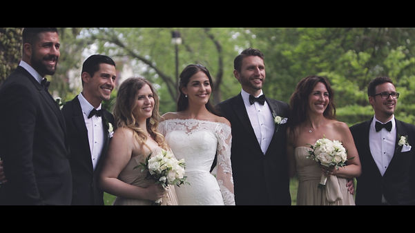 The bridal party posing for the last video/photo at the Adamson Estates.