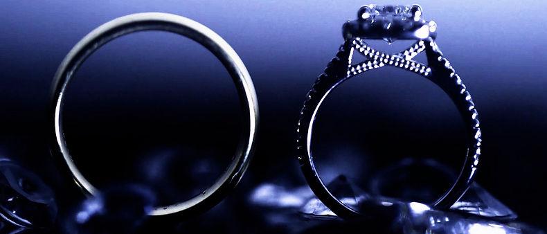 Wedding rings shot at Hazelton Manor.