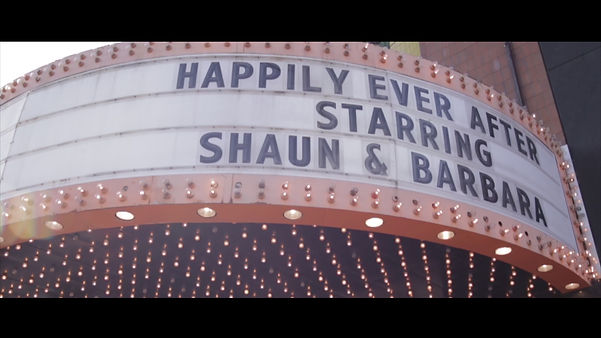 """Happily Ever After"", starring Shaun & Barbara, at their reception the Eglinton Grand"