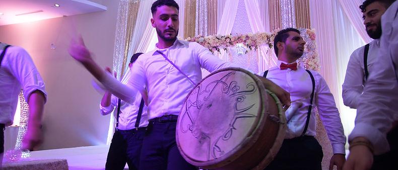 Arab traditional drummer