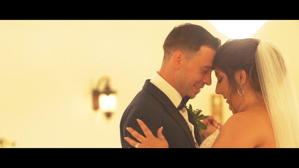 Filming the couple during their first dance.
