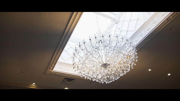 Such a gorgeous chandelier at the entrance hall of the Paradise Banquet Hall.