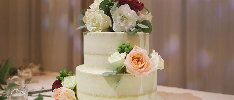 The wedding cake at Guild Inn