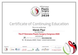 5th Emirates Plastic Surgery Conference.