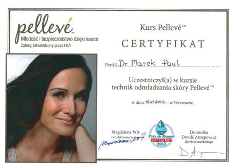 Pelleve Certificate 2013