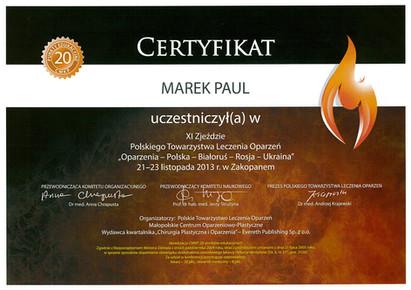 Polskie Towarzystwo Leczenia Oparzeń Zakopane 2013