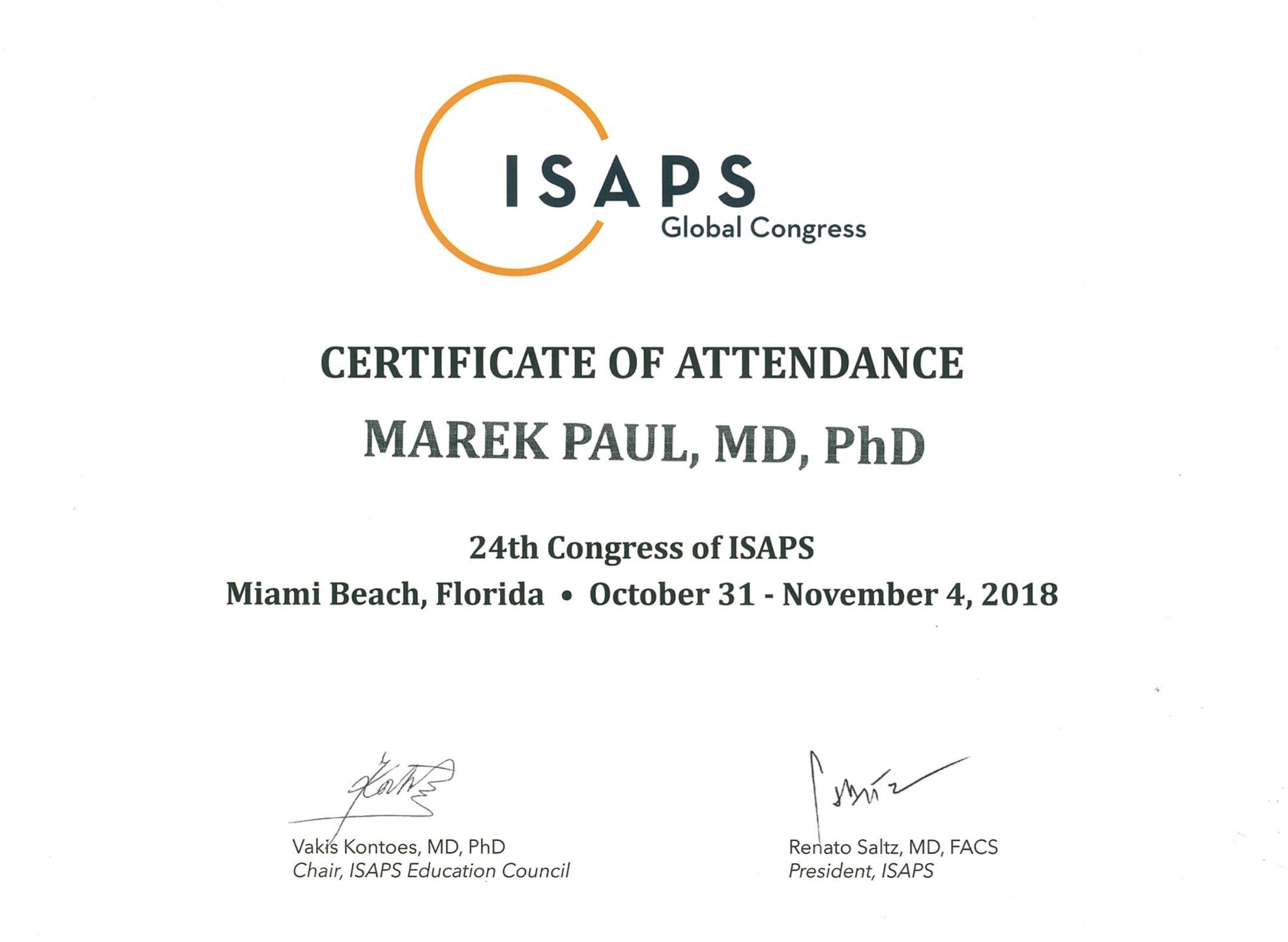 ISAPS Miami 2018