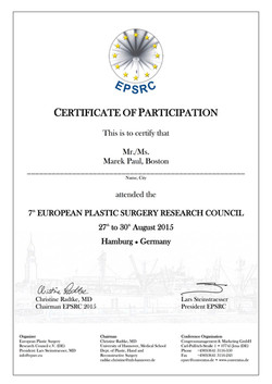 EPSRC Certificate Paul