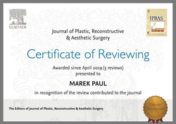 JPRAS Reviever since 2019