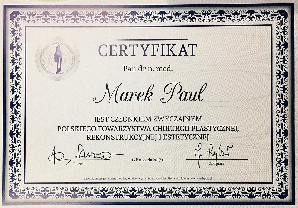 PTChRiE Certificate