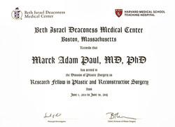 Harvard Fellowship Marek Paul
