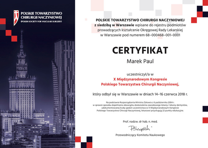 10th International Congress of Polish Vascular Surgery Society 2018