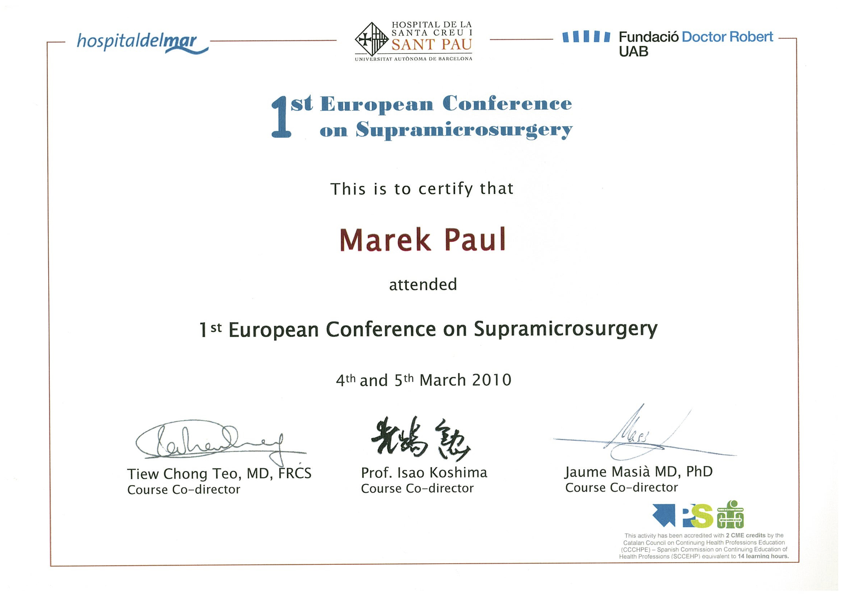 1st SupraMicrosurgery