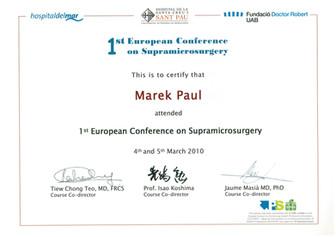 Supramicrosurgery Barcelona 2010