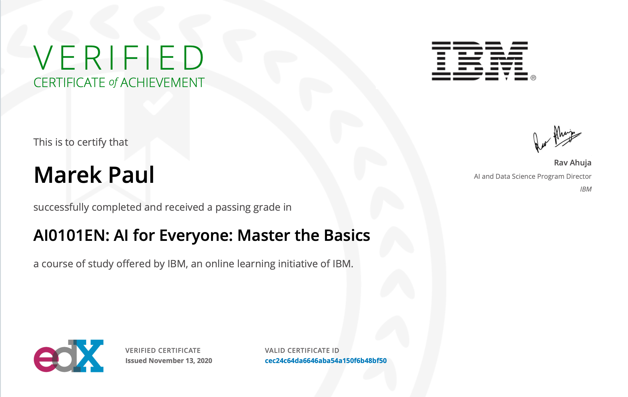 AI Basic IBM Course 2020