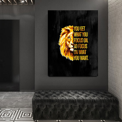 What You Focus On (PRINTABLE WALL ART)