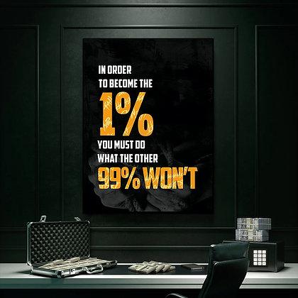 1%  (PRINTABLE WALL ART)