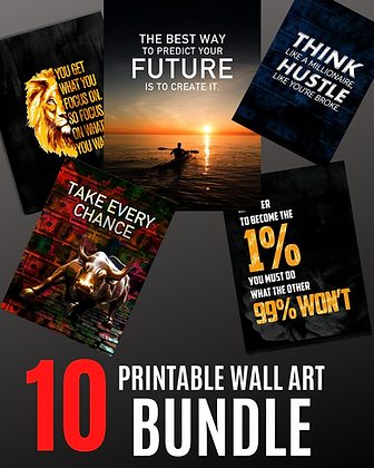 Entrepreneurial Printable Wall Art (BUNDLE)