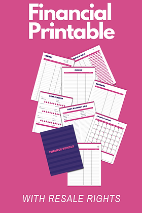 Binder Printables Bundle - Finance, Budgeting, Goals, And Health