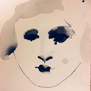 Moods , ink on paper 40x40cm #portrett #