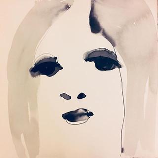 Moods ink on paper 40x40 cm#p#ink #black