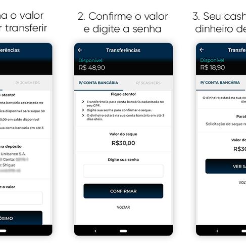 Como transferir seu saldo do App 3cash para sua própria conta!!