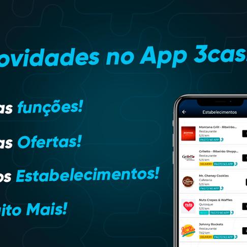 Semana de novidades no App 3cash!! CONFIRA AGORA!