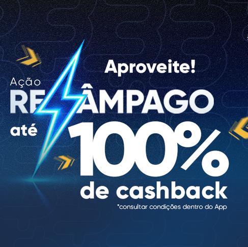 Ação Relâmpago do App 3cash! Cashbacks IMPERDÍVEIS para VOCÊ que não perde nenhuma oportunidade!