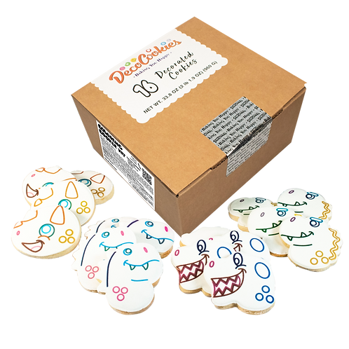 DINOSAUR Paint Your Own Cookies Kit, Butter Recipe, Pack of 12