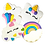 Thumbnail: UNICORN Hand Decorated Cookies,  Butter Recipe,  Pack of 12