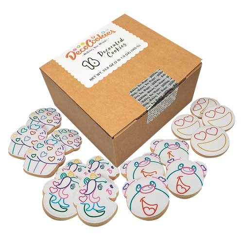 LOVE Paint Your Own Cookies Kit, Butter Recipe, Pack of 12