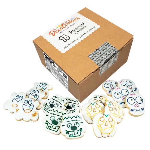HALLOWEEN Paint Your Own Cookies Kit, Butter Recipe, Pack of 12
