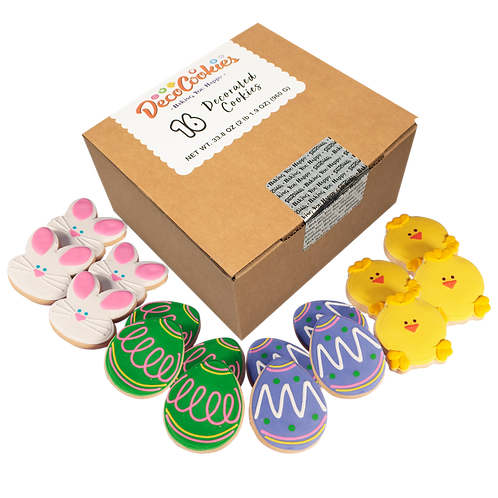 EASTER Hand Decorated Cookies,  Butter Recipe,  Pack of 12