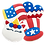 Thumbnail: PATRIOTIC Hand Decorated Cookies,  Butter Recipe,  Pack of 12