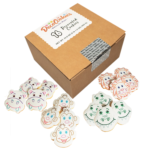 ANIMALS Paint Your Own Cookies Kit, Butter Recipe, Pack of 12