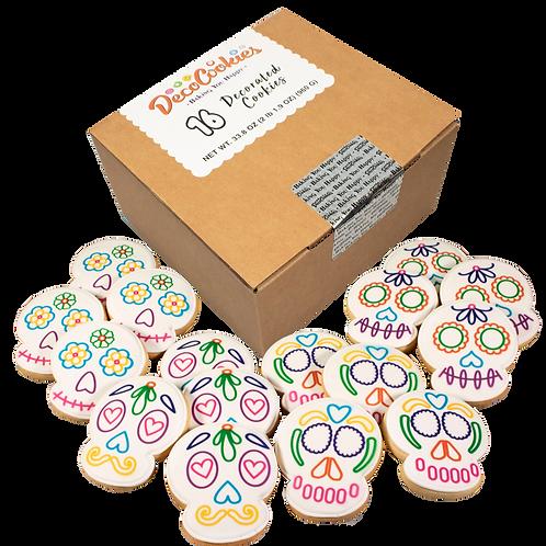 DIA DE MUERTOS Paint Your Own Cookies Kit, Butter Recipe, Pack of 12