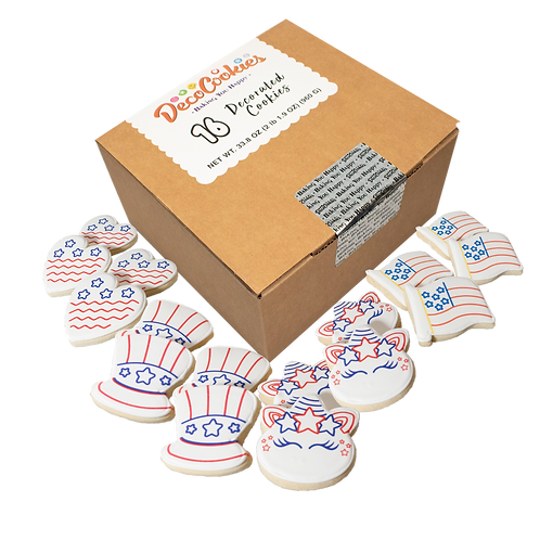 PATRIOTIC Paint Your Own Cookies Kit, Butter Recipe, Pack of 12