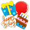 Thumbnail: BIRTHDAY Hand Decorated Cookies,  Butter Recipe,  Pack of 12