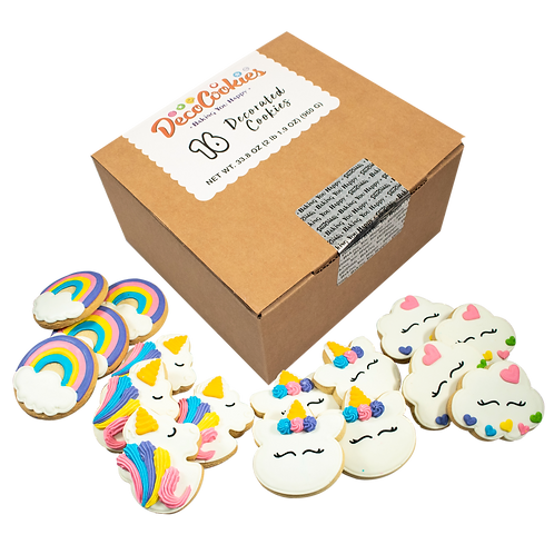 UNICORN Hand Decorated Cookies,  Butter Recipe,  Pack of 12