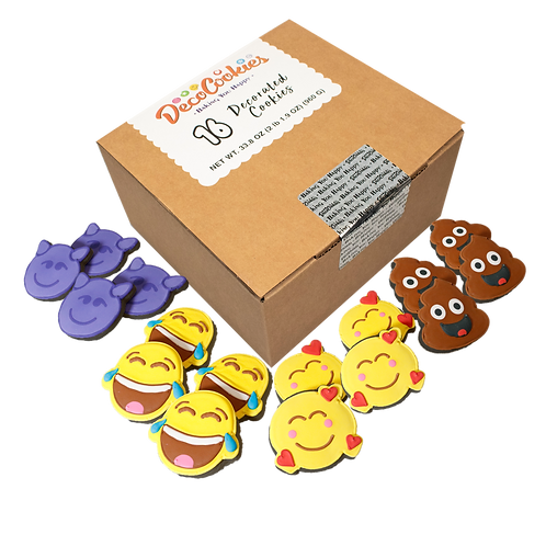 REACTION Hand Decorated Cookies, Chocolate Recipe, Pack of 12