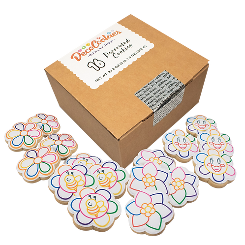 FLOWER Paint Your Own Cookies Kit, Butter Recipe, Pack of 12