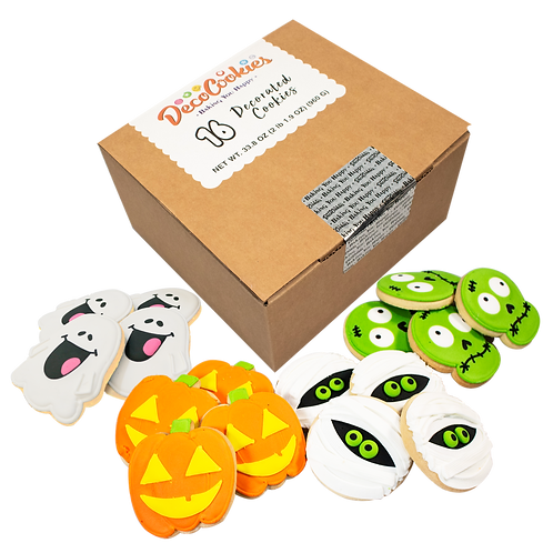 HALLOWEEN Hand Decorated Cookies,  Butter Recipe,  Pack of 12