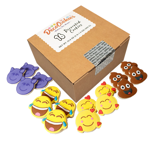 REACTION Hand Decorated Cookies,  Butter Recipe,  Pack of 12