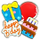 Thumbnail: BIRTHDAY Hand Decorated Cookies, Chocolate Recipe, Pack of 12