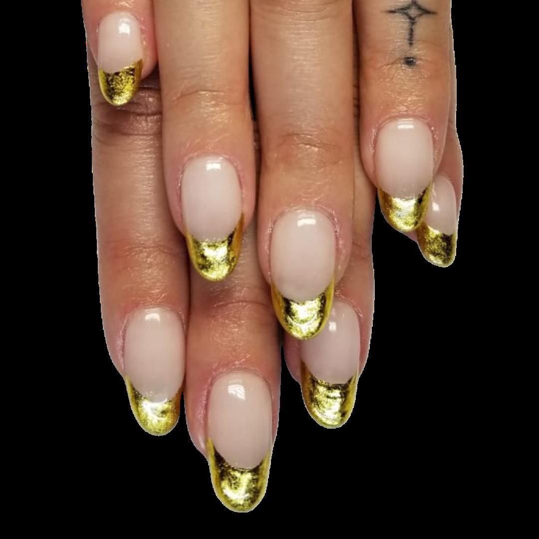 natural nails / chrome
