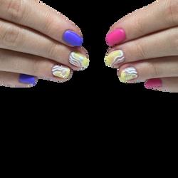 natural nails / hand painted1