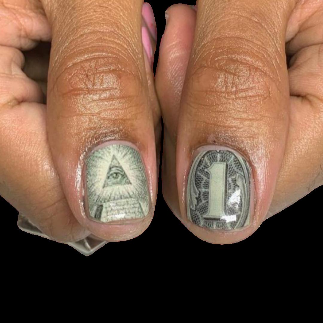 natural nails / decals
