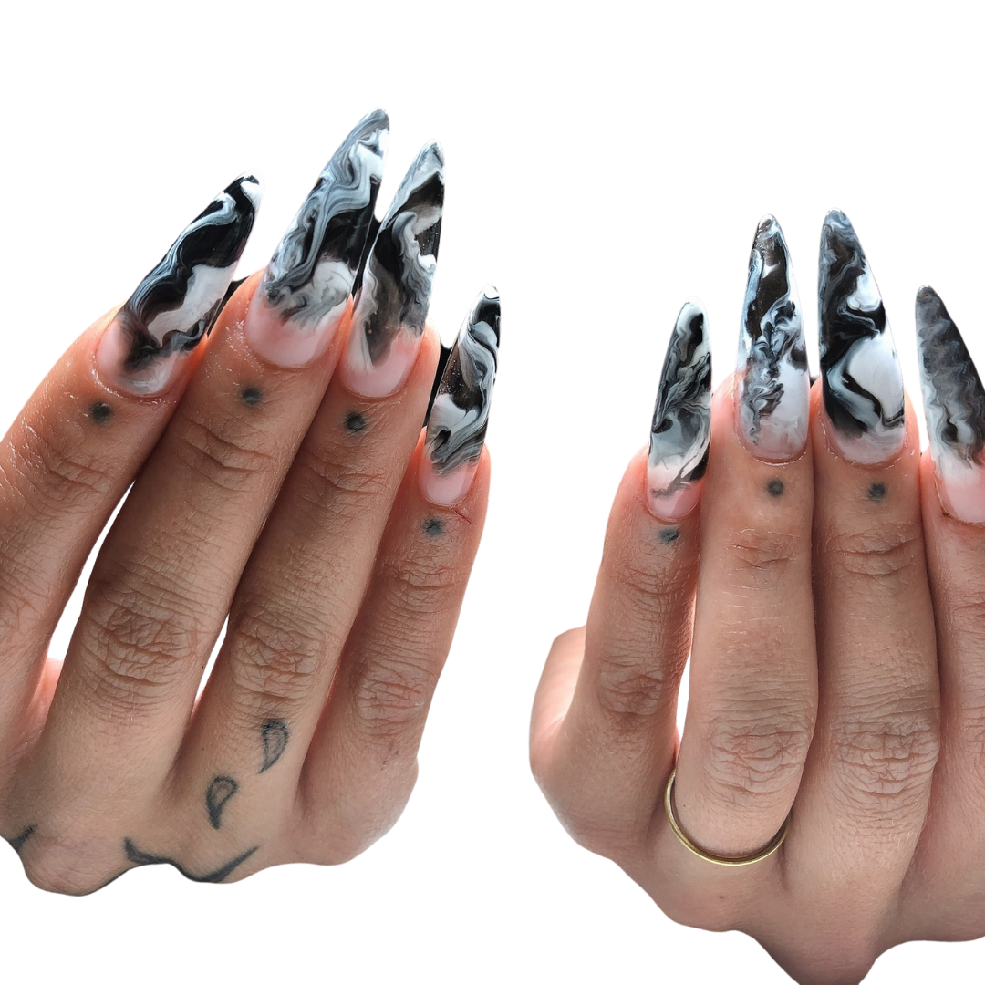 extensions / hand painted