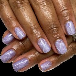 natural nail / hand marble