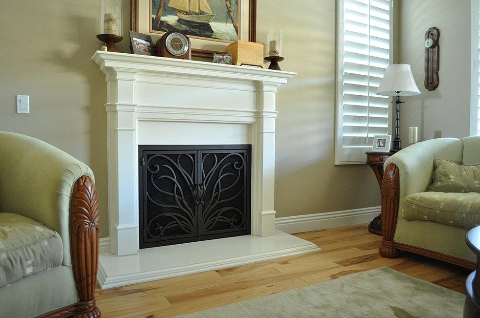 Fireplace Doors Model 3 - Iron Door Concepts/Wrought Iron Doors/Staircases/Tustin, CA